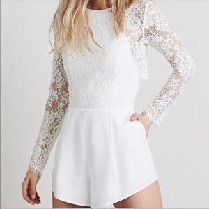 Jetset diaries white lace romper size 00